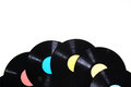 Old used vinyl record Royalty Free Stock Photo