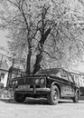 Old ussr car lada an made in Royalty Free Stock Photo
