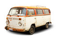 Old van hippie rust Stock Image