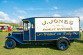 Old van vintage delivery on show at a country fair at evesham england april Stock Photo
