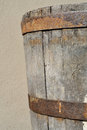 Old vat made of wood used for italian wine production Royalty Free Stock Photo