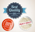 Old vector round retro vintage grunge stickers Royalty Free Stock Image