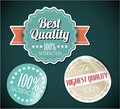 Old vector round retro vintage grunge stickers Royalty Free Stock Photo