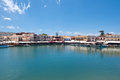 The old venetian harbour. Rethymno, Crete island, Greece. Royalty Free Stock Photo