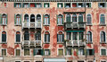Old venice facade typical building Royalty Free Stock Image