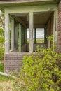 Old veranda windowless abandoned countryside Royalty Free Stock Photos