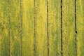 Old vertical planks painted green yellow copyspace Royalty Free Stock Photo