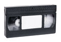 Old video cassette standard vhs isolated on white background Stock Photos