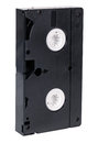 Old video cassette standard vhs isolated on white background Royalty Free Stock Photography