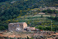 Old villa on the hill stone house a sicily italy Stock Photo
