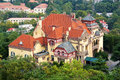 Old villa overlook at chinese qingdao Royalty Free Stock Photos