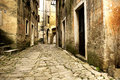 Old village close to the adriatic sea Stock Photography