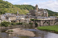 Old village in france on the lot river the south of Royalty Free Stock Photo