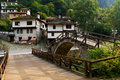 Old village houses from Shiroka luka Royalty Free Stock Images