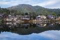 Old Village is reflection Rak Thai Village in Pai,Mae Hong Son,Thailand. Royalty Free Stock Photo