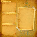 Old vintage album with paper frames for photos Royalty Free Stock Photo