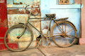 Old vintage bicycle in india jodhpur rajasthan Stock Photography
