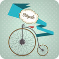 Old vintage bicycle vector background with Stock Photography