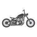 Old vintage bobber bike. cafe racer theme