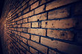 Old vintage brick wall (vintage dark style) Royalty Free Stock Photo