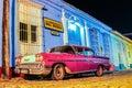 Old vintage car cuba trinidad Royalty Free Stock Photo