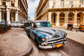 Old vintage car on the streets of Havana on the island of Cuba Royalty Free Stock Photo