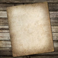Old vintage card on grungy background wooden Royalty Free Stock Photo