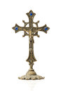 Old vintage cross on white background Royalty Free Stock Photography