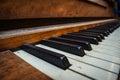 Old Vintage Dusty Piano Keys Royalty Free Stock Photo