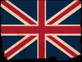 Old Vintage Flag Great Britain Stock Images