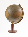 Old vintage globe Royalty Free Stock Photo