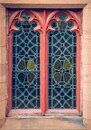 Old vintage gothic window tudor architechure Royalty Free Stock Photo