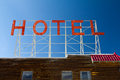Old Vintage Hotel Sign Letters Royalty Free Stock Photography