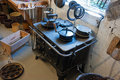Old vintage iron stove cooker Royalty Free Stock Photos
