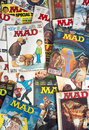 Old vintage mad magazine cartoon comic books a collection Stock Images