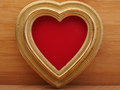 Old vintage ornate picture frame. Background Valentines Day. Royalty Free Stock Photo