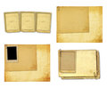 Old vintage paper with grunge frames for photos Royalty Free Stock Photo