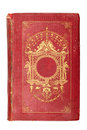 Old vintage red book decorated with gold Stock Photo