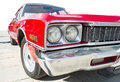 Old vintage retro car red color american white Royalty Free Stock Photography