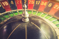 Old vintage roulette and gamble for risk concept Royalty Free Stock Photo