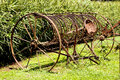 Old vintage rusted plough awaiting restoration Royalty Free Stock Images