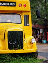 Old vintage school bus Royalty Free Stock Photo