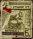 Old vintage stamp. Royalty Free Stock Photo