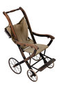 Old vintage styled baby carriage-stroller Stock Images