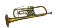 Old vintage trumpet Royalty Free Stock Photo