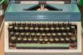 Old vintage typewriter with Cyrillic font