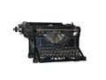 Old vintage typewriter isolated over white background Royalty Free Stock Photography