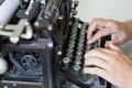 Old vintage typewriter s still working Royalty Free Stock Photo