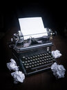 Old Vintage Typewriter Vignette Royalty Free Stock Photo