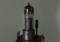 The old and vintage vacuum tube, macro Royalty Free Stock Photo